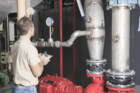 moving images: A Air Conditioner Repair Man at work Stock Photo