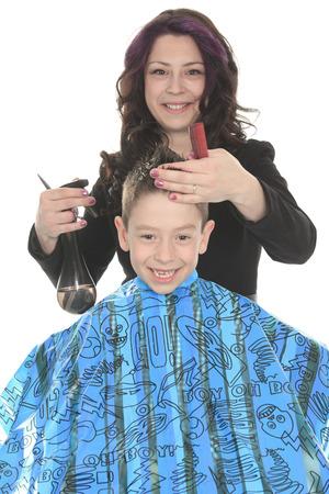 Salon Style - Hairdresser in studio white  photo