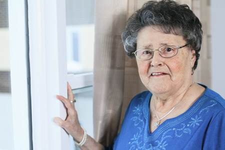 80 plus years: A lonely 90 years old grandmother in is apartment