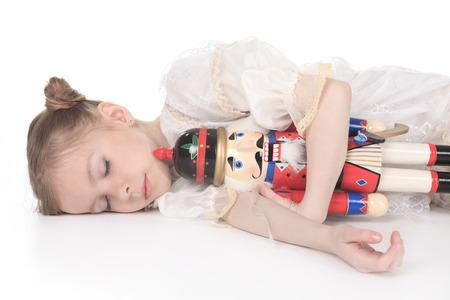 A Beauty Ballerina who holding a nutcracker