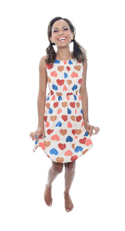 mulatto: A Mulatto model wearing with a Heart dress