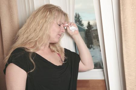 hoer: Een vrouw binnen is slaapkamer voelen depress.