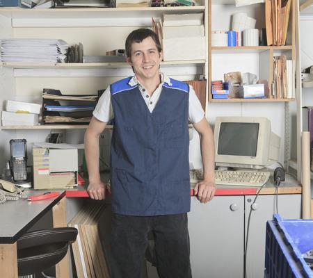 A sales assistant portrait in home appliance shop supermarket store photo