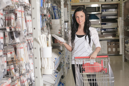 A client portrait in home appliance shop supermarket store photo