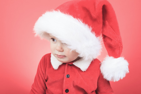 A Portrait of a little boy on christmas time photo