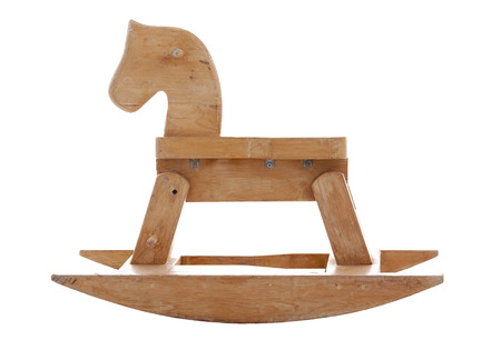An old wood horse