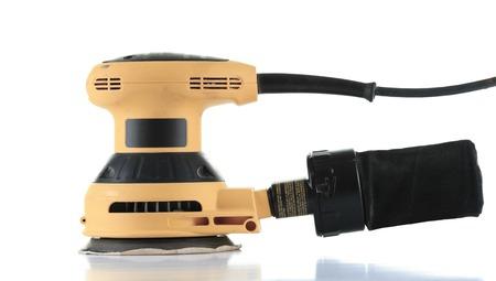Une ponceuse électrique isolé sur fond blanc. Banque d'images - 41691325