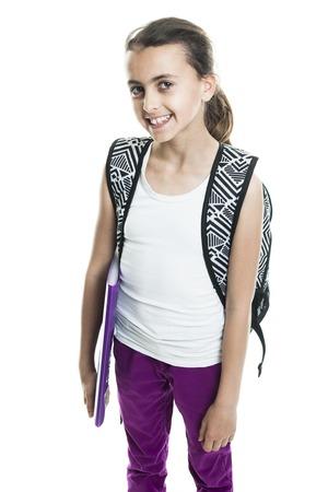 isoalated: A Teen girl isoalated on white background