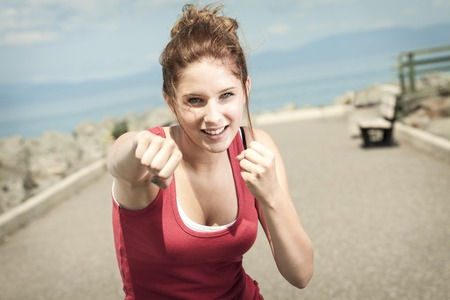 A teen fitness and heath care concept Stock Photo