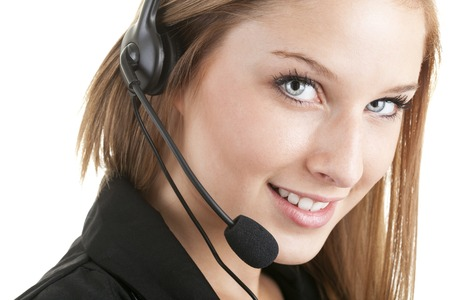 customer service representative: A Women, Service, Customer Service Representative. Stock Photo