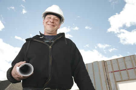foreman: A foreman with is plant Stock Photo