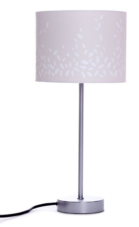 lamp shade: Table lamp isolated on white background