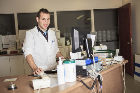 analytical chemistry: A scientist at work in a laboratory