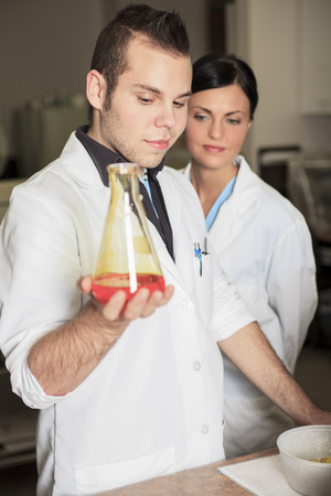 analytical chemistry: A scientist team at work in a laboratory