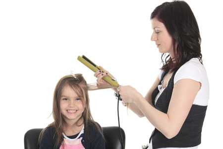 salon background: Salon Style - Hairdresser in studio white background