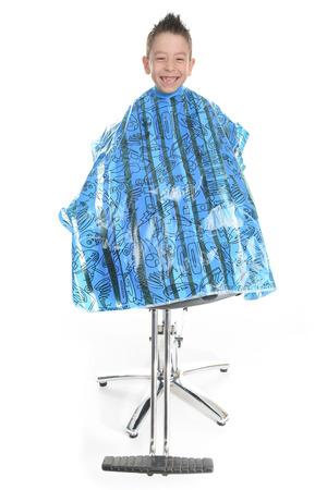 coiffeur: Style Salon - Salon de coiffure en studio fond blanc