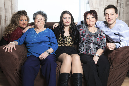 three generations of women: Meeting with the close family is very important for them Stock Photo