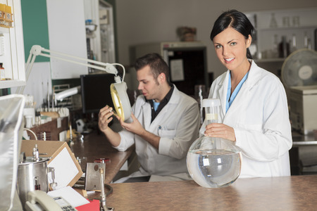 A scientist team at work in a laboratory