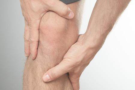 knee: A Man with knee injury on knee area.