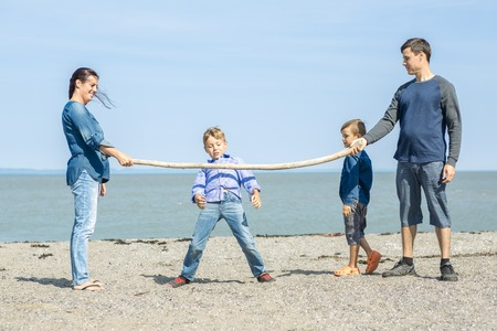 limbo: A Portrait of a Family having fun at the beach