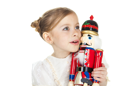 A Beauty Ballerina who holding a nutcracker