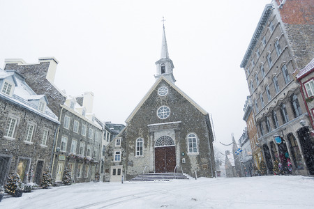 royale: Quebec city famous landmark. The church at Place Royale.