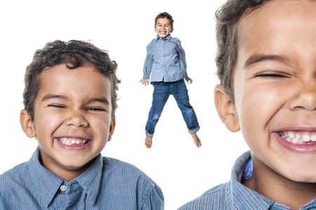 niños africanos: Un retrato de un niño pequeño afroamericana linda que tiene tanta diversión Foto de archivo
