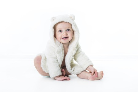 diaper girl: A baby diaper girl isolated on white background