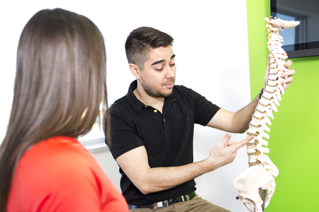 describing: A Female Patient Describing talk to Injury To Osteopath