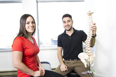 describing: A Female Patient Describing talk to Injury To Osteopath