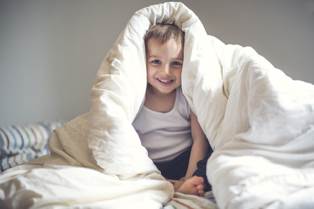 Young Boy on bed