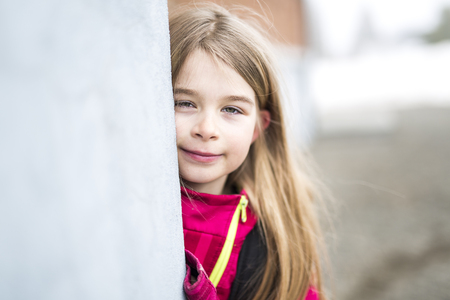 Portrait of a Young Kid at school