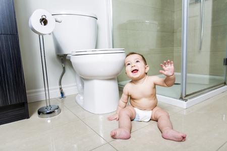 Toddler baby toilet in bathroom