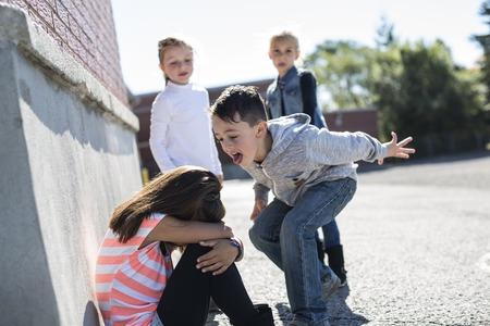 Bullying in età scolare Archivio Fotografico