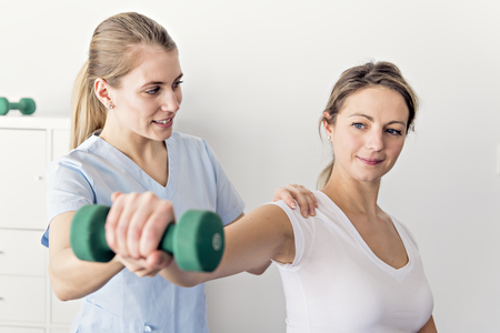 A Modern rehabilitation physiotherapy in the room