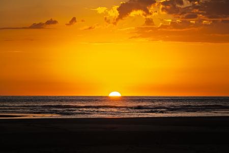 A Beautiful sunset over Costa Rica. Red sky. Stock fotó