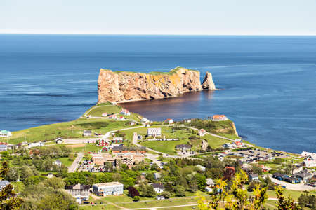 Nice Famous Rocher Perce rock in Gaspe