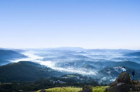 breaking dawn: Sea Blue Mountains