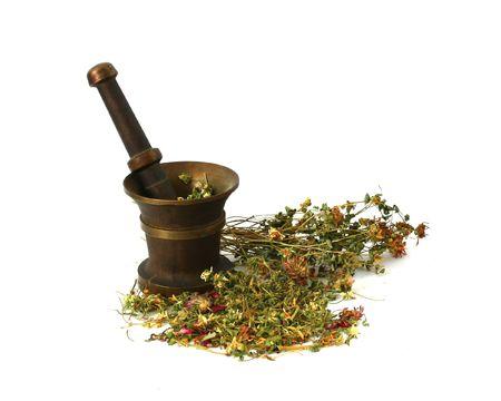 gramineas: Hierbas medicinales, hierbas para la magia Foto de archivo