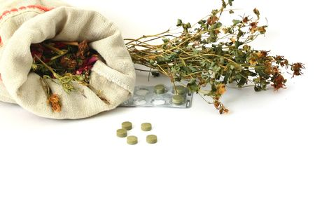 Alternativ:  herbal medicine,pills Stock Photo