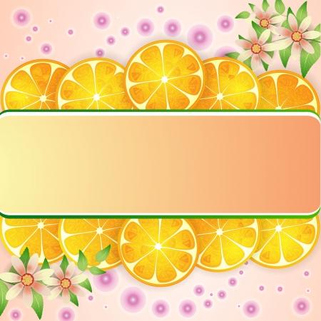 cartoon menu: Orange background