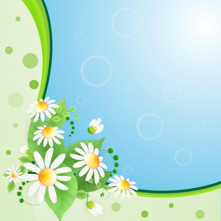 Summer background with flowers and butterflies Stock Vector - 14398036
