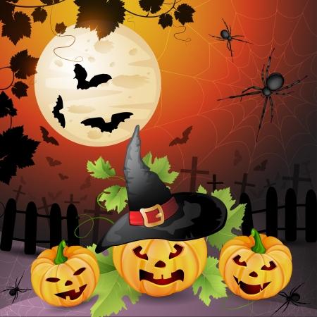 Halloween Background Stock Vector - 14892138
