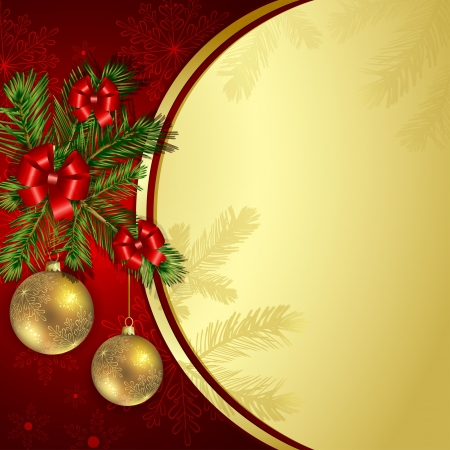 Christmas background with pine branch Stock Vector - 17632922