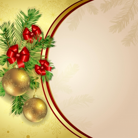 Christmas background with pine branch Stock Vector - 17632936