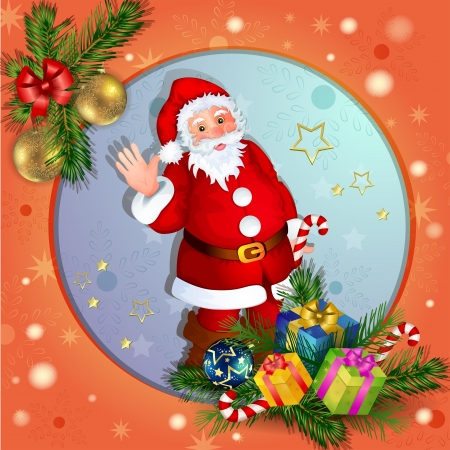 Christmas background with Santa Claus Stock Vector - 16555112