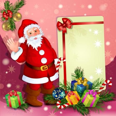 boule de neige: Fond de Noël avec le Père Noël