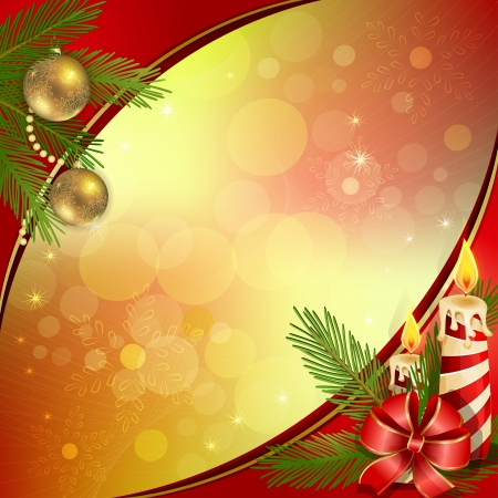 Beautiful Christmas  background with burning candles
