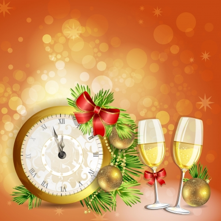 new year s card: Greeting card for new year s eve Illustration