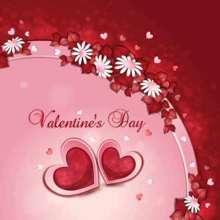 Valentine s day card with beautiful flowers